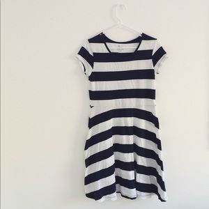 old navy junior navy blue striped dress